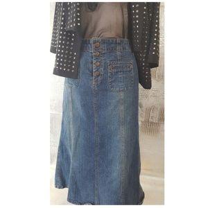 Vintage gap maxi denim skirt size 4